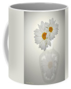 White On White Daisies Coffee Mug