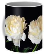 Peonies In Cream Coffee Mug