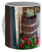 Wine And Geraniums Coffee Mug