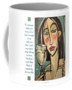 Wine Negativity Poster Coffee Mug