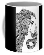 Wise Elephant Coffee Mug by Barbara McConoughey