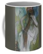 Woman Combing Her Hair Coffee Mug by Edgar Degas