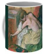 Woman Drying Herself Coffee Mug