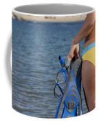 Woman Getting Ready To Go Snorkeling Coffee Mug