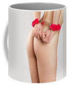 Woman Hands In Pink Handcuffs Coffee Mug