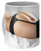 Woman In Lingerie Lying On A Bed Coffee Mug
