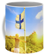 Woman Tourist In Sintra Coffee Mug