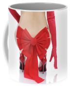 Woman With A Christmas Bow Coffee Mug