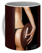 Woman With A Football Coffee Mug