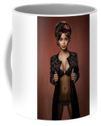 Woman With Ring Headdress And Bouffant Hairstyle Coffee Mug