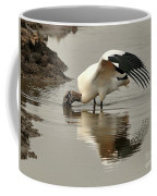 Wood Stork Winging It Coffee Mug