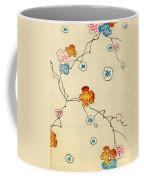 Woodblock Print Of Fall Leaves Coffee Mug