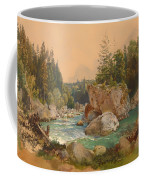 Wooded River Landscape In The Alps Coffee Mug