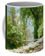 Wooded Riverscape Coffee Mug by Leopold Rolhaug