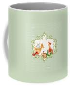 Woodland Fairytale - Animals Deer Owl Fox Bunny N Mushrooms Coffee Mug