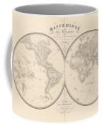 World Map In Two Hemispheres Coffee Mug
