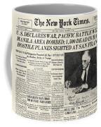 World War II: Headline, 1941 Coffee Mug