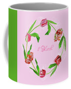 Wreath With Tulips Coffee Mug