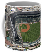 Wrigley Field In Chicago Aerial Photo Coffee Mug