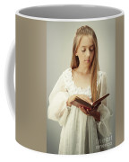 Young Girl Reading A Book Coffee Mug