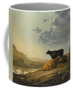 Young Herdsmen With Cows Coffee Mug
