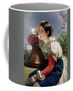 Young Italian At The Well Franz Xavier Winterhalter Coffee Mug