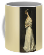 Young Woman In White Coffee Mug