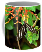 Zebra Longwing On Firebush  Coffee Mug