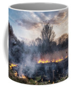Fires Sunset Landscape Coffee Mug