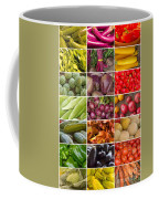Fruit And Vegetable Collage Coffee Mug