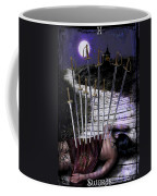 10 Of Swords Coffee Mug