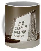 Route 66 - Drive-in Theatre Coffee Mug by Frank Romeo