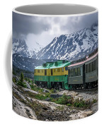 Scenic Train From Skagway To White Pass Alaska Coffee Mug