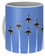Us Air Force Thunderbirds Flying Preforming Precision Aerial Maneuvers Coffee Mug