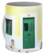 Wooden Door In Old San Juan, Puerto Rico Coffee Mug