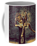 1003s-zac Necklace Of Bones Held By Beautiful Nude Dancer Coffee Mug