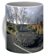 100925 Lava Flow On Road Hi Coffee Mug