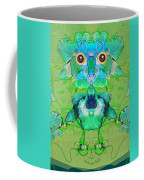 1045   Flower Owl 2017 Coffee Mug