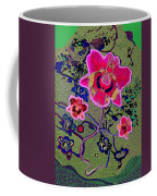 1046 - Pink Flower Simple Greeting Card   A Coffee Mug