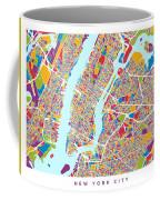 New York City Street Map Coffee Mug