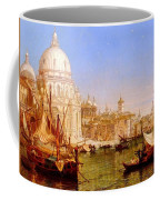 selous Henry Courtney A View Along The Grand Canal With Santa Maria Della Salute Henry Courtney Selous Coffee Mug