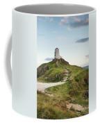 Stunning Summer Landscape Image Of Lighthouse On End Of Headland Coffee Mug