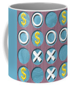 Tic Tac Toe Wooden Board Generated Seamless Texture Coffee Mug