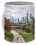 Charlotte City North Carolina Cityscape During Autumn Season Coffee Mug