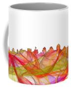 San Diego California Skyline Coffee Mug