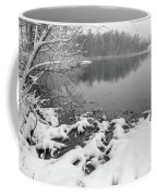 Snow Covered Landscapes In Belmont North Carolina Along Catawba  Coffee Mug
