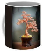 #129 Copper Wire Tree Sculpture Coffee Mug