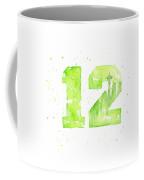 12th Man Seahawks Art Go Hawks Coffee Mug
