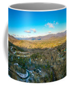 Aerial View On Mountains And Landscape Covered In Snow Coffee Mug