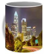 Downtown Of Charlotte  North Carolina Skyline Coffee Mug